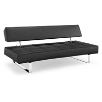 Atlantis Convertible Sofa with Chrome Track Legs