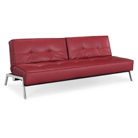 Copenhagen Convertible Sofa with Chrome Legs