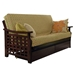 Manila Futon Set in Dark Cherry with Drawers
