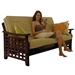 Relaxing on Manila Futon Set in Dark Cherry