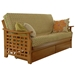 Manila Futon Set in Medium Oak with Drawers