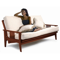 Marin Futon Frame in Dark Cherry
