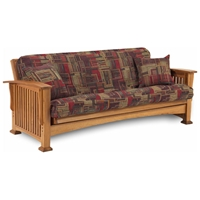 Rainer Complete Oak Futon Set