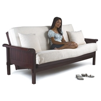 Dark Cherry Renaissance Futon Set