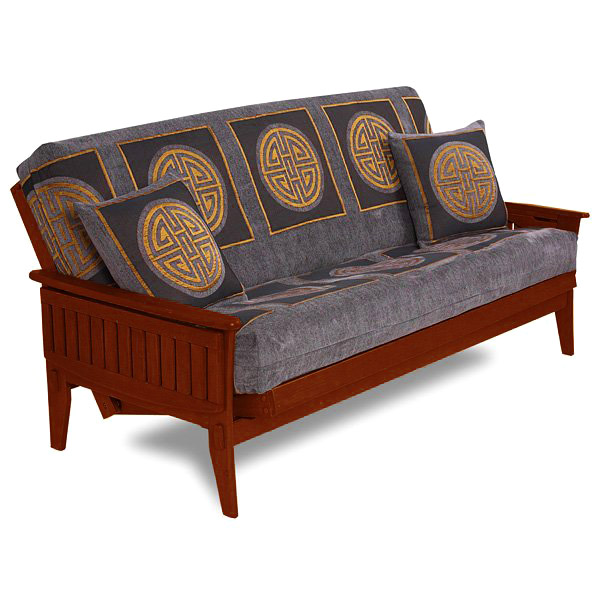 Santa Cruz Futon Frame in Dark Cherry