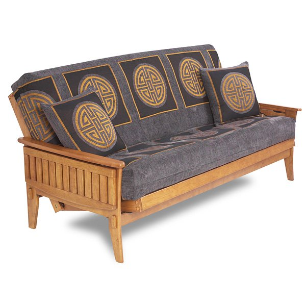 Santa Cruz Futon Frame in Medium Oak