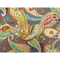 Whimsy Grey Futon Cover - Paisley