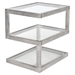 5S Rectangular End Table - Clear - LMS-TB-5S-SS