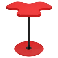 Clover End Table - Red