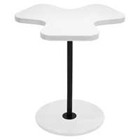 Clover End Table - White