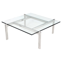 Cosmopolitan Square Coffee Table - Clear