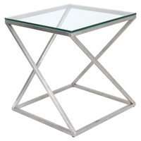 4Z Square End Table - Clear