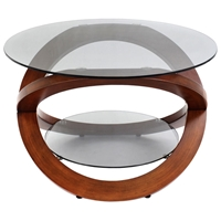 Linx Wood and Glass Coffee Table