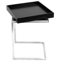 Zenn Black Tray End Table