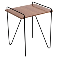 Loft Rectangular End Table - Walnut