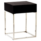 Chio Square Side Table - Black Oak