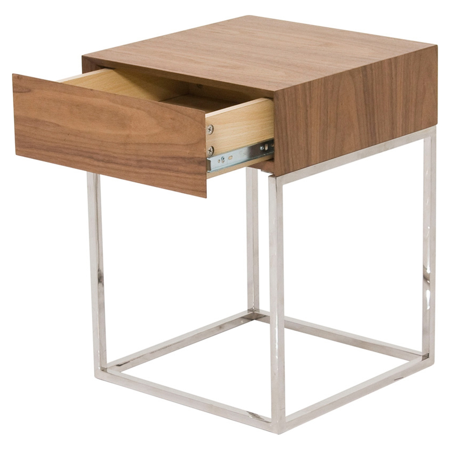 Chio Square Side Table - Walnut