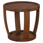 Dylan Round End Table - Rustic Walnut