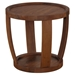 Dylan Round End Table - Rustic Walnut - MOES-BC-1013-20