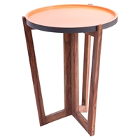 Bliss Round End Table - Natural