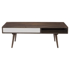 Blossom Coffee Table - 1 Drawer, Brown