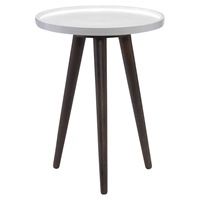 Blossom Round End Table - Brown