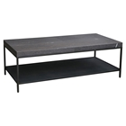 Makrana Marble Coffee Table - Lower Shelf, Dark Brown