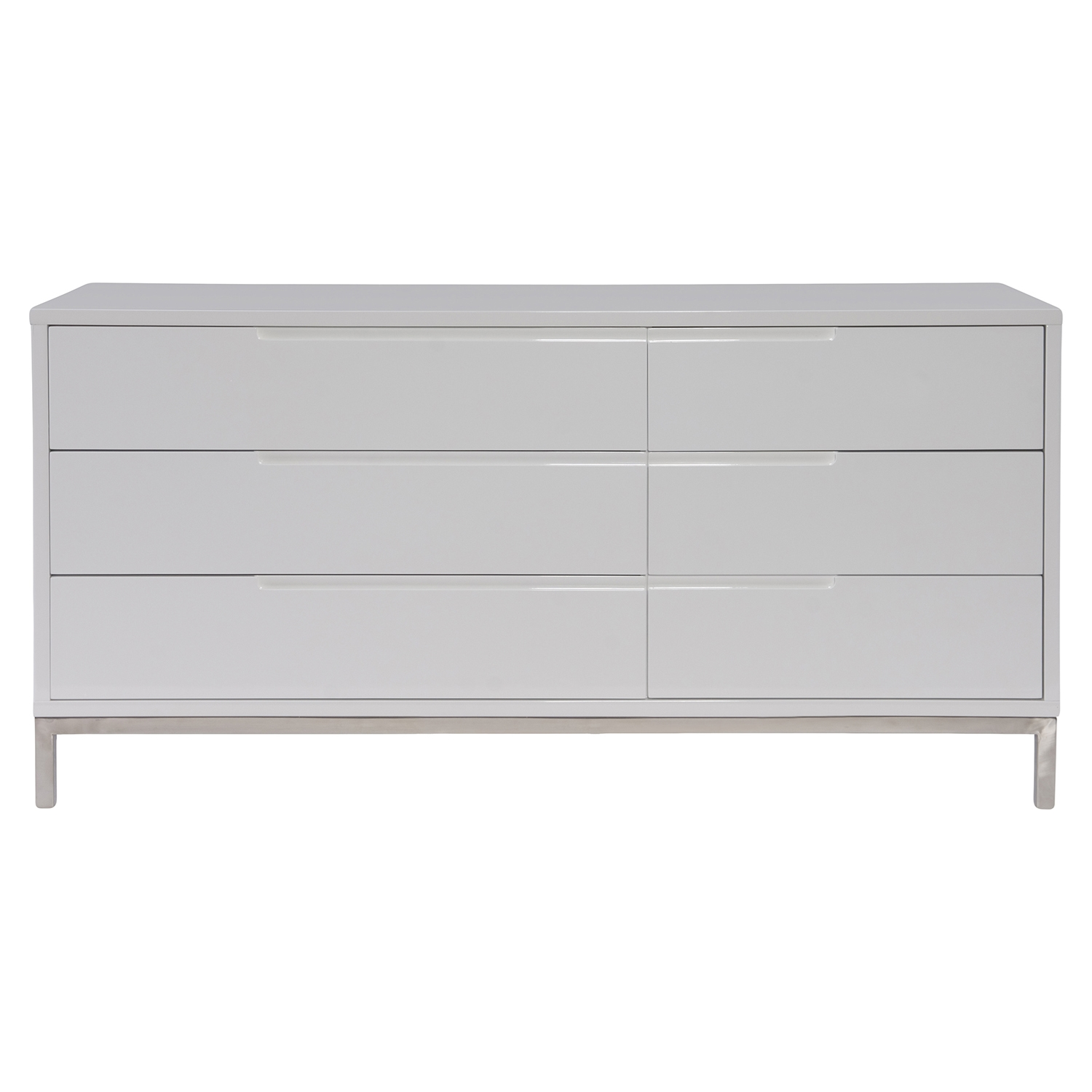 Naples Dresser - 6 Drawers, White - MOES-ER-1197-18