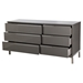 Naples Dresser - 6 Drawers, Gray - MOES-ER-1197-29