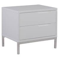 Naples Nightstand - 2 Drawers, White