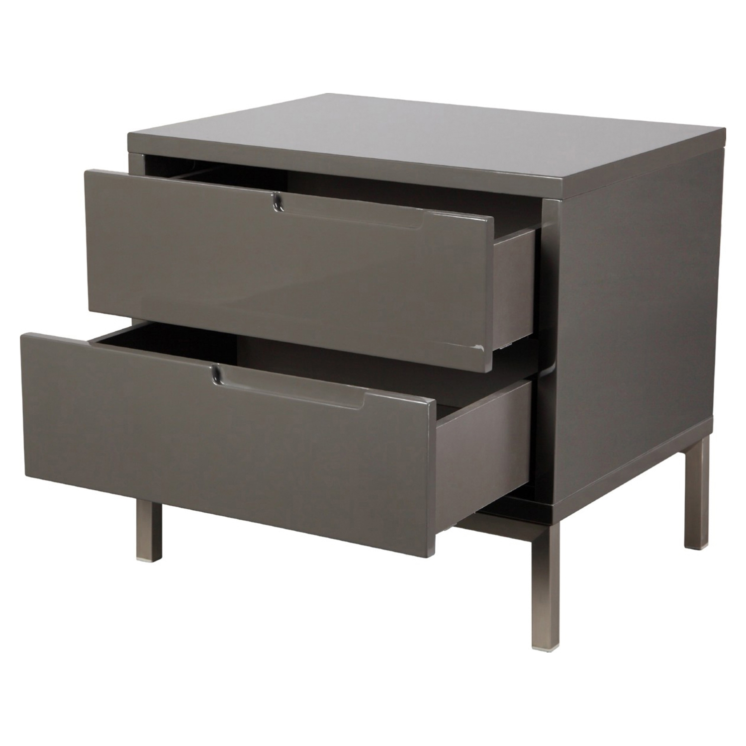 Naples Nightstand - 2 Drawers, Gray - MOES-ER-1199-29