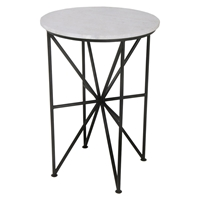 Quadrant Accent Table - Black