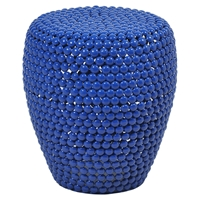 Jazz Side Table - Pedestal Base, Blue