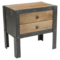 Bolt Side Table - 2 Drawers, Natural