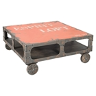 Loft Coffee Table - Casters, Orange