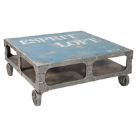 Loft Coffee Table - Casters, Blue