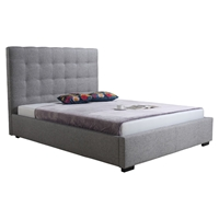 Belle Storage Bed - Light Gray