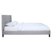 Eliza Upholstery Bed - Light Gray