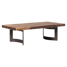 Bent Rectangular Coffee Table - Light Brown