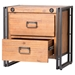 Brooklyn 2 Drawers Nightstand - Dark Brown - MOES-WN-1023-20