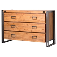 Brooklyn 3 Drawers Dresser - Dark Brown