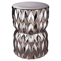 Facet Stool - Silver