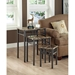 Illusion Nesting Tables Set - Cappuccino Marble Look, Bronze - MNRH-I-3041