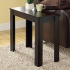 Adagio Contemporary Side Table - Cappuccino Finish