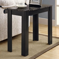 Allegro Side Table - Gray Top, Black Finished Legs