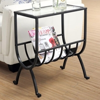 Charisma Side Table with Magazine Storage - Stardust Brown