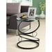 Romance Contemporary End Table - Glass Top, Ring Accents - MNRH-I-3317