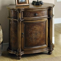 Borromeo Nightstand - Light Brown, 1 Drawer, 1 Cabinet