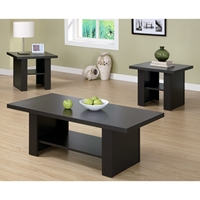Dulcet 3 Piece Occasional Tables Set - Matte Cappuccino