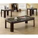 Strauss Coffee Table and End Tables Set - Glossy Chocolate Brown - MNRH-I-7946P